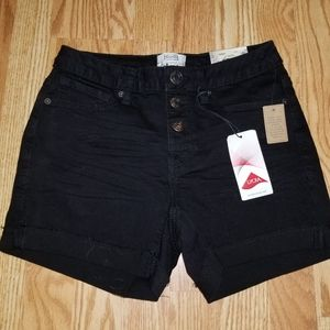 Black Mudd Stretch Shorts